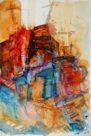 CW2016_abstract_watercolor004 / Daler-Rowney Graduate Sketchbook, 21,0 x 29,7 cm / 8.3 x 11.7 in / Lukas Aquarell 1862