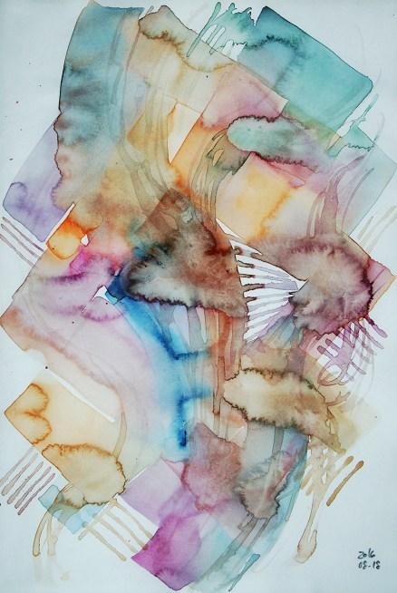 CW2016_abstract_watercolor006 / Daler-Rowney Graduate Sketchbook, 21,0 x 29,7 cm / 8.3 x 11.7 in / Lukas Aquarell 1862