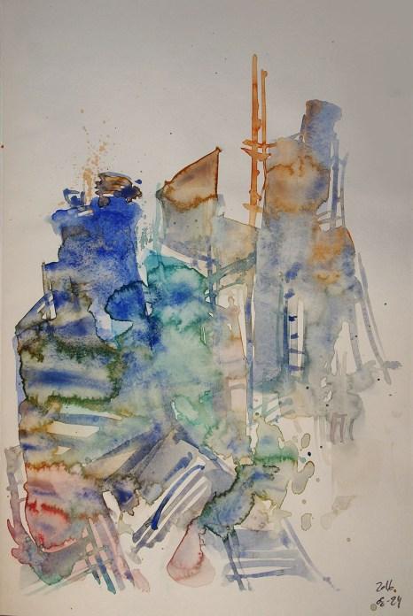 CW2016_abstract_watercolor012 / Daler-Rowney Graduate Sketchbook, 21,0 x 29,7 cm / 8.3 x 11.7 in / Lukas Aquarell 1862