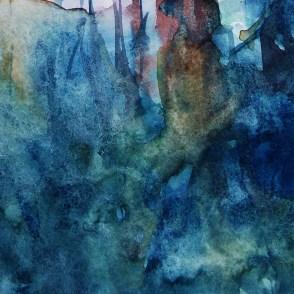 CW2016_abstract_watercolor013 / Daler-Rowney Graduate Sketchbook, 21,0 x 21,0 cm / 8.3 x 8.3 in / Lukas Aquarell 1862