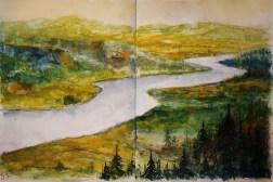250_2016 Watercolor-Sketches /Daler-Rowney Graduate Sketchbook, 2x 21,0 x 29,7 cm / 8.3 x 11.7 in / Lukas Aquarell 1862