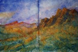 264_2016 Watercolor-Sketches /Daler-Rowney Graduate Sketchbook, 2x 21,0 x 14,9 cm / 8.3 x 5.8 in / Lukas Aquarell 1862