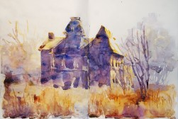 291_2016 Watercolor-Sketches /Daler-Rowney Graduate Sketchbook, 2x 21,0 x 14,9 cm / 8.3 x 5.8 in / Lukas Aquarell 1862