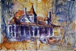 296_2016 Watercolor-Sketches /Daler-Rowney Graduate Sketchbook, 2x 21,0 x 14,9 cm / 8.3 x 5.8 in / Lukas Aquarell 1862