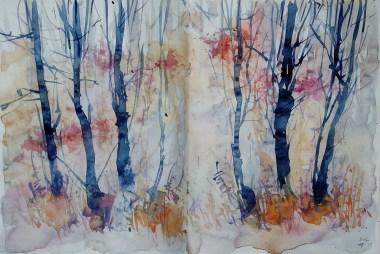 299_2016 Watercolor-Sketches /Daler-Rowney Graduate Sketchbook, 2x 21,0 x 14,9 cm / 8.3 x 5.8 in / Lukas Aquarell 1862