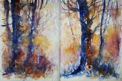 302_2016 Watercolor-Sketches /Daler-Rowney Graduate Sketchbook, 2x 21,0 x 14,9 cm / 8.3 x 5.8 in / Lukas Aquarell 1862