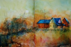 311_2016 Watercolor-Sketches /Daler-Rowney Graduate Sketchbook, 2x 21,0 x 14,9 cm / 8.3 x 5.8 in / Lukas Aquarell 1862