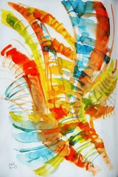 CW2016_abstract_watercolor040 / Daler-Rowney Graduate Sketchbook, 21,0 x 29,7 cm / 8.3 x 11.7 in / Lukas Aquarell 1862