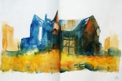 397_2016 Watercolor-Sketches /Daler-Rowney Graduate Sketchbook, 2x 21,0 x 14,9 cm / 8.3 x 5.8 in / Lukas Aquarell 1862