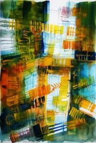 CW2016_abstract_watercolor043 / Daler-Rowney Graduate Sketchbook, 21,0 x 29,7 cm / 8.3 x 11.7 in / Lukas Aquarell 1862