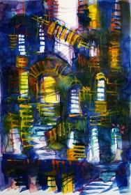 CW2016_abstract_watercolor045 / Daler-Rowney Graduate Sketchbook, 21,0 x 29,7 cm / 8.3 x 11.7 in / Lukas Aquarell 1862