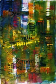 CW2016_abstract_watercolor046 / Daler-Rowney Graduate Sketchbook, 21,0 x 29,7 cm / 8.3 x 11.7 in / Lukas Aquarell 1862