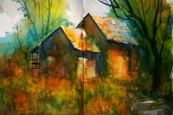 402_2016 Watercolor-Sketches /Daler-Rowney Graduate Sketchbook, 2x 21,0 x 29,7 cm / 8.3 x 11.7 in / Lukas Aquarell 1862