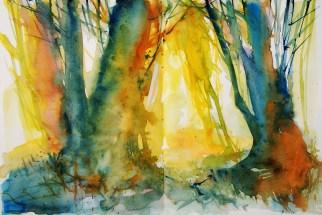 408_2016 Watercolor-Sketches /Daler-Rowney Graduate Sketchbook, 2x 21,0 x 14,9 cm / 8.3 x 5.8 in / Lukas Aquarell 1862