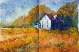 428_2016 Watercolor-Sketches /Daler-Rowney Graduate Sketchbook, 2x 21,0 x 14,9 cm / 8.3 x 5.8 in / Lukas Aquarell 1862