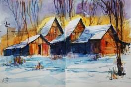 405_2016 Watercolor-Sketches /Daler-Rowney Graduate Sketchbook, 2x 21,0 x 29,7 cm / 8.3 x 11.7 in / Lukas Aquarell 1862