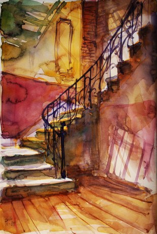 434_2016 Watercolor-Sketches /Daler-Rowney Graduate Sketchbook, 2x 21,0 x 14,9 cm / 8.3 x 5.8 in / Lukas Aquarell 1862
