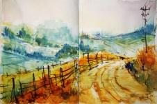 435_2016 Watercolor-Sketches /Daler-Rowney Graduate Sketchbook, 2x 21,0 x 14,9 cm / 8.3 x 5.8 in / Lukas Aquarell 1862