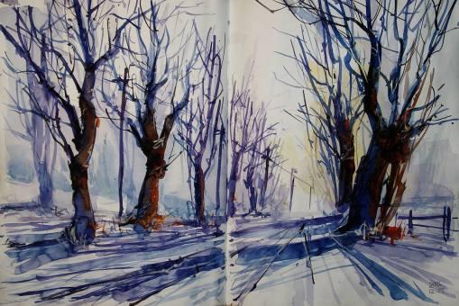 488_2016 Watercolor-Sketches /Daler-Rowney Graduate Sketchbook, 2x 21,0 x 14,9 cm / 8.3 x 5.8 in / Lukas Aquarell 1862