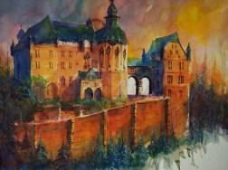 "166_2017 Watercolor / Fabriano Artistico rough 61 x 45,5 cm / 24´ x 17.9´ / Lukas Aquarell 1862 / ""Marburg Golden Hour"""