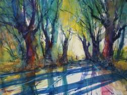 "167_2017 Watercolor / Fabriano Artistico rough 61 x 45,5 cm / 24´ x 17.9´ / Lukas Aquarell 1862 / ""Dead End"""
