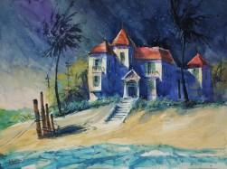 170_2017 Watercolor revisited / Fabriano Artistico rough 61 x 45,5 cm / 24´ x 17.9´ / Lukas Aquarell 1862 /
