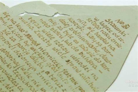 concentration camp urine letter