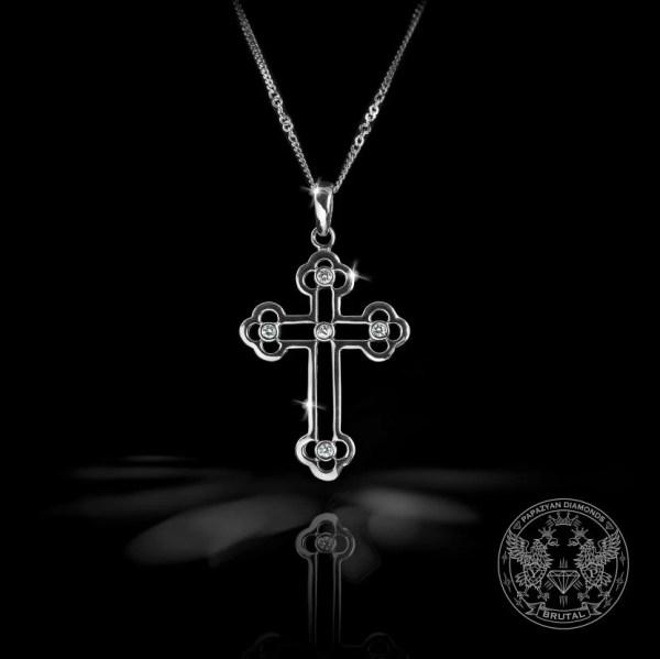 Златен кръст с диаманти
