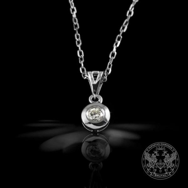 Медальон бяло злато и диаманти