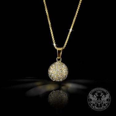 Златен медальон полусфера