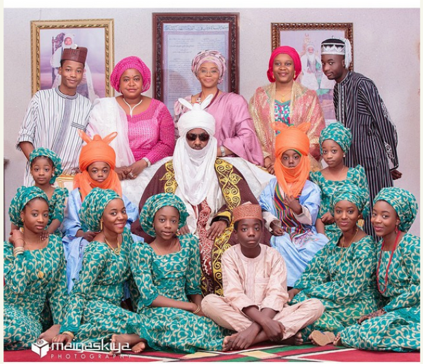 Co-wives-and-step-children-of-Sanusis-18-Year-Old-Bride