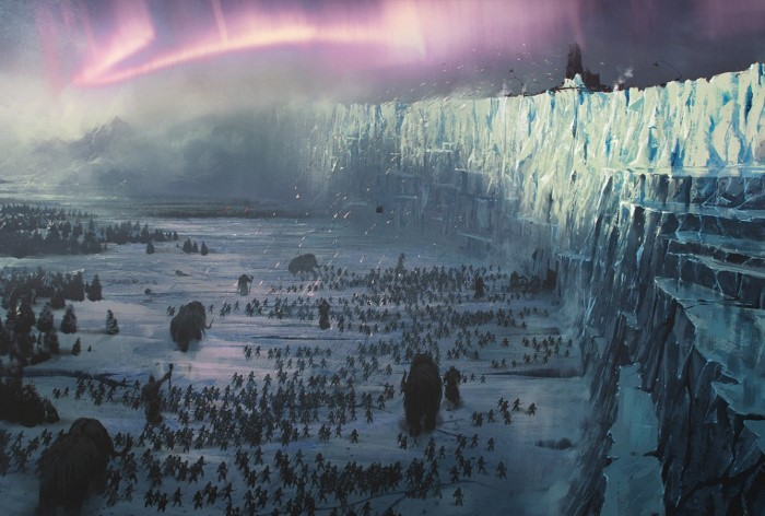 Game of Thrones; wall between the Crows and the Wildings