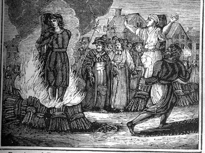 Artist's impression of a burning at the stake