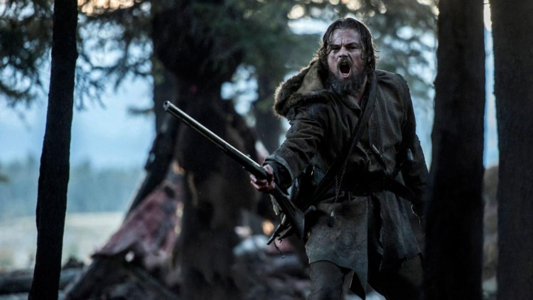 Leonardo DiCaprio as Hugh Glass in The Revenant