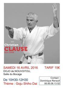 Affiche Stage Club Christian Clause 16_04_2016 Nouvoitou