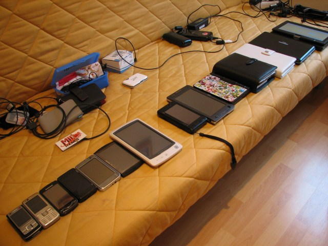 14 mobile devices
