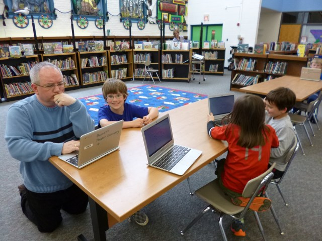 Chromebook in school, by Laurie Sullivan