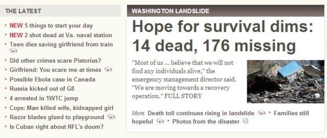 CNN headline of fear 2014