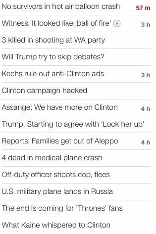 CNN headlines July 30 2016
