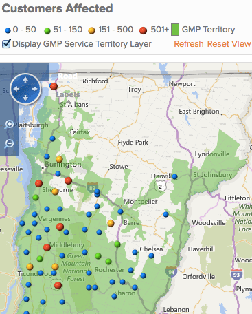 power outages July 23 2016 5 pm