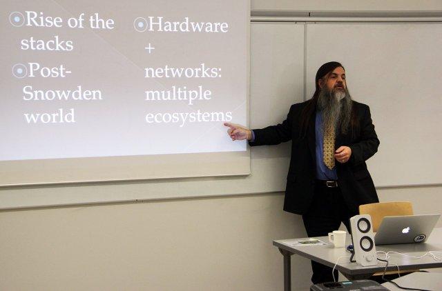 Presenting in Helsinki.