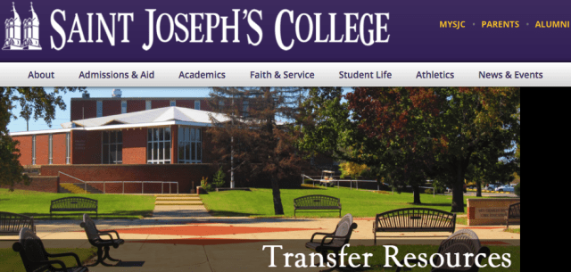 St. Joseph's College front page