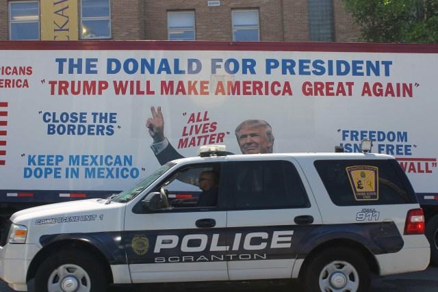 Trump ad in Scranton, via Vera