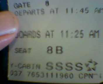 scary plane ticket
