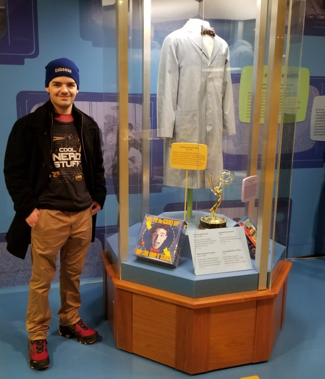 Owain and Bill Nye exhibit