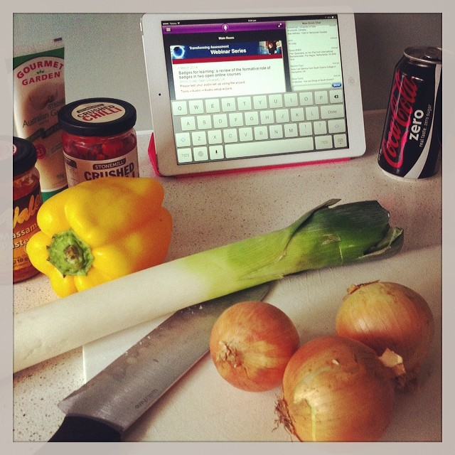 webinar while cooking Joyce Seitzinger