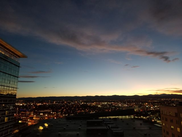Denver night sky