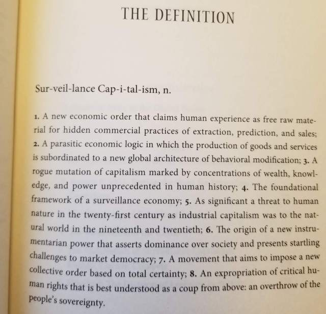 The Age Of Surveillance Capitalism Chapters 1 And 2 Bryan