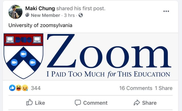 Zoom I Paid Too Much for this education