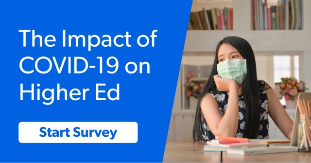 survey Impact of COVID on higher ed